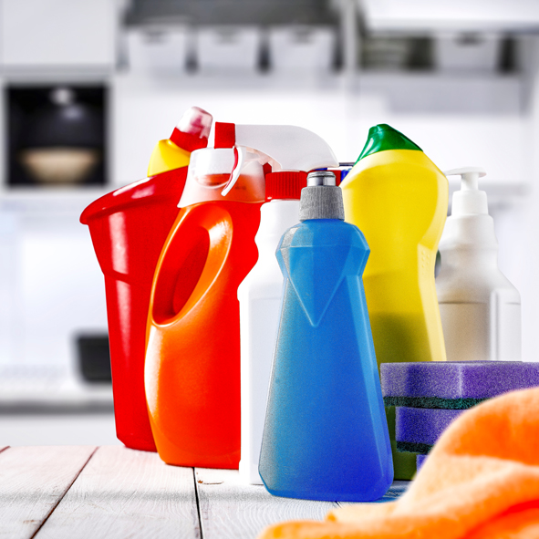 How can cleaning products help fight bacteria ?
